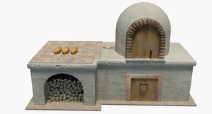 medieval bread oven 3D