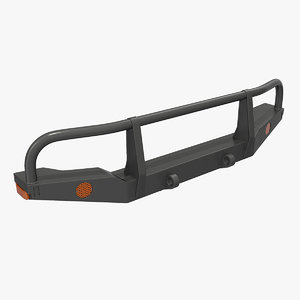 3D model bullbar push bumper
