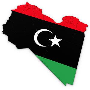 libya regions 3D model