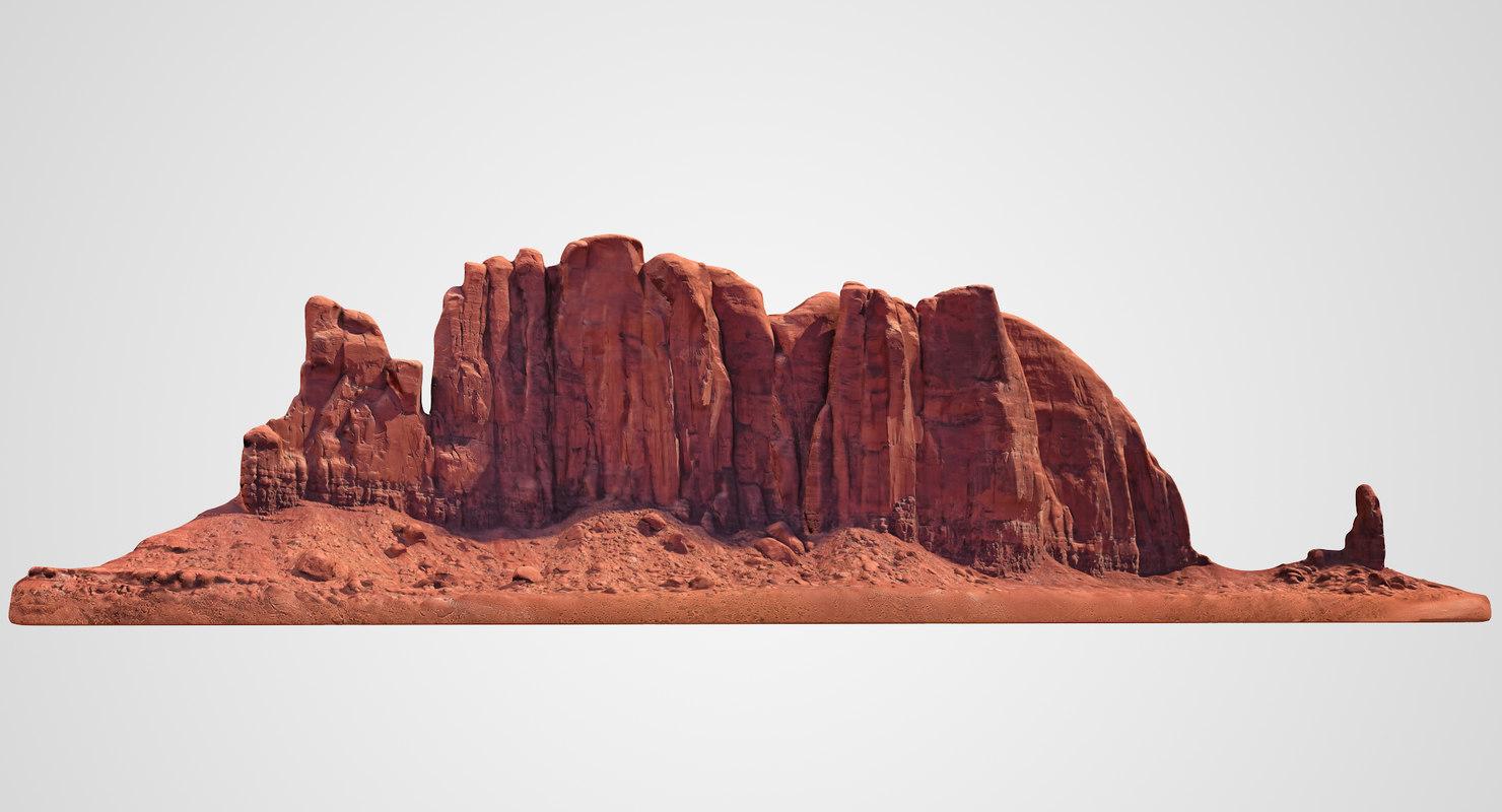 3D camel butte monument