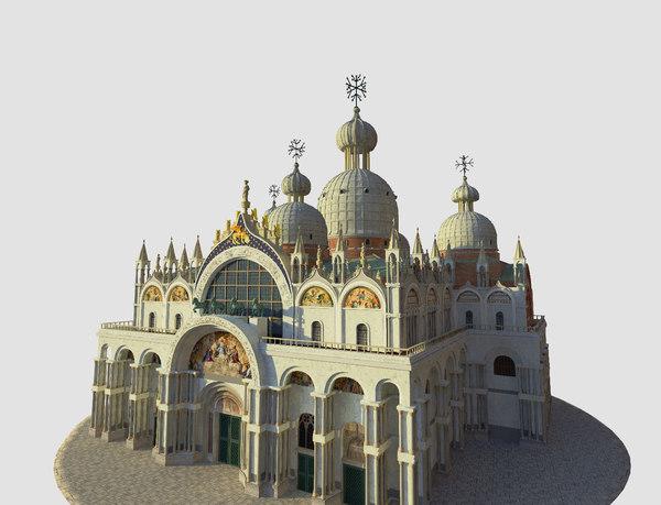 3D venice basilica saint mark model