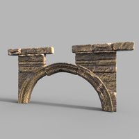 old stone arch model