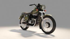 jawa motorcycle 3D model