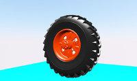 tire traktor 3D model