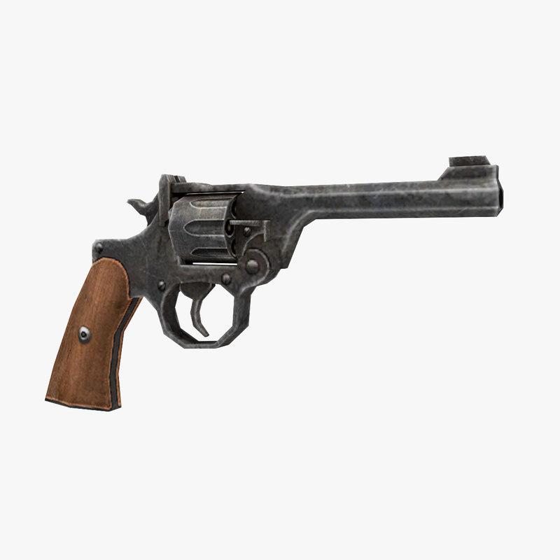 3D mki revolver gun model
