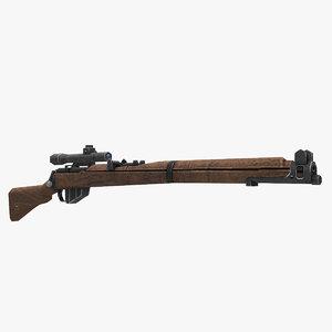 lee enfield mk3 s gun 3D