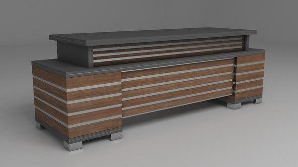 designed offices tables 3D model