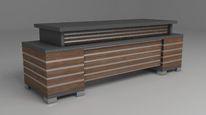designed offices tables 3D model