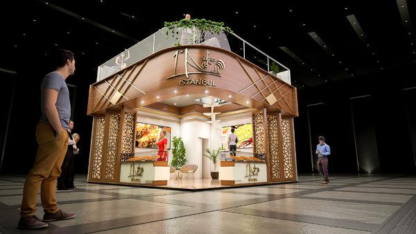 3D fair exhibition model