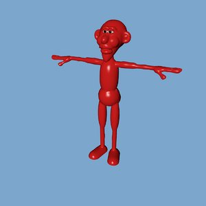 3D character rigged mixamo