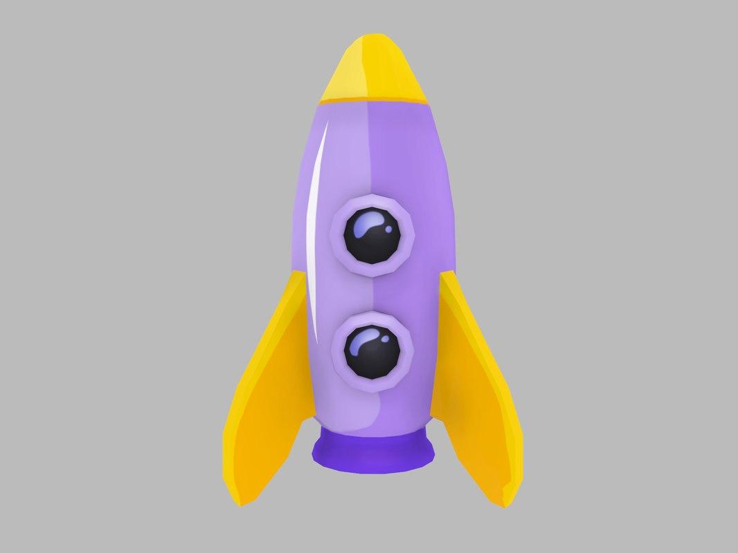 3D model rocket pinc