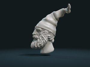 3D gnome head