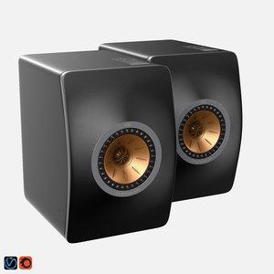 kef ls50 3D model