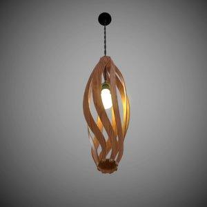 lustre wooden plafond 3D model