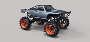 truck mud 3D model