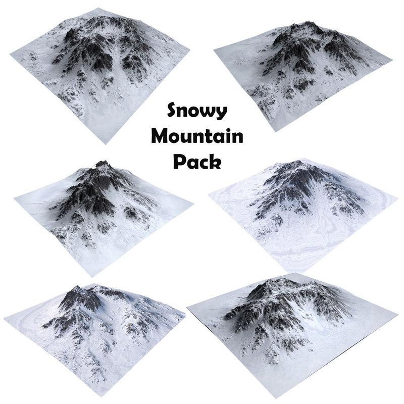3D maps mountain terrain