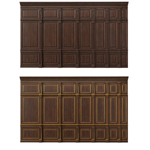 wooden panels wood wall model