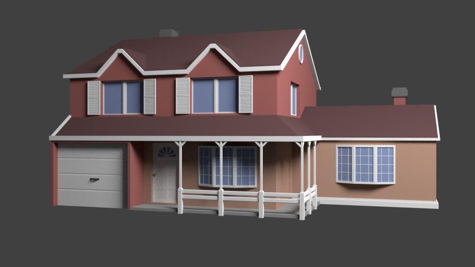 house architecture 3D model