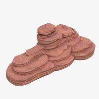 3D cartoon cliff model