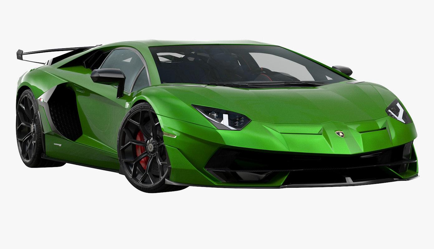 3D 2019 lamborghini aventador svj model