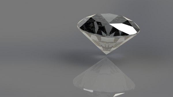 3D brilliant realistic diamond
