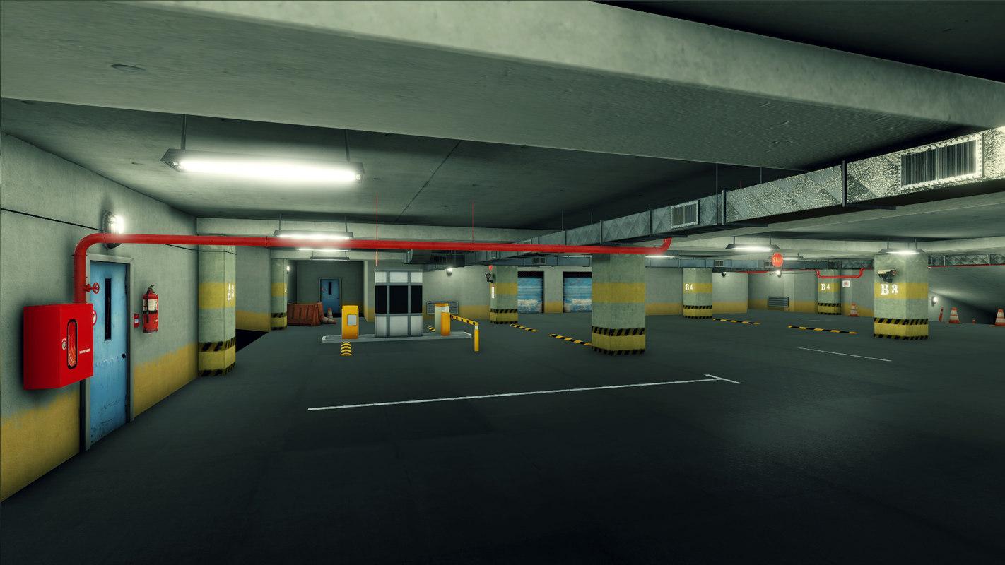 parking underground 3D model