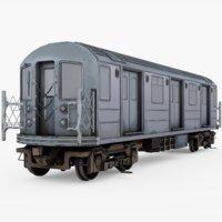 3D subway car