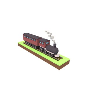 3D model simple train