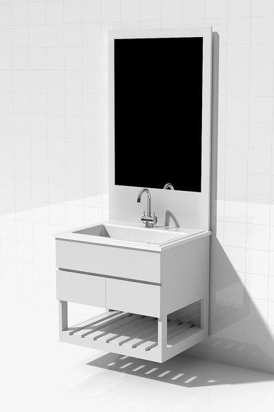 bathroom vanity 3d model
