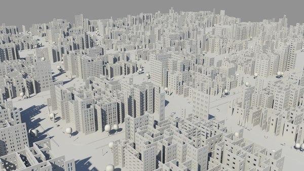 3D maze city model