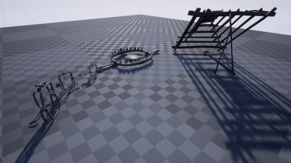 traps rigged animal 3D