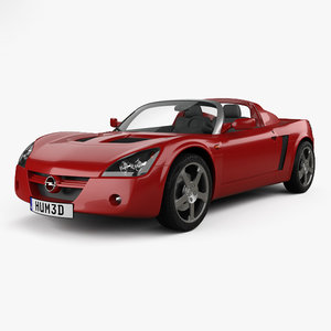 3D model opel speedster 2000