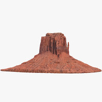 3D sandstone butte 5