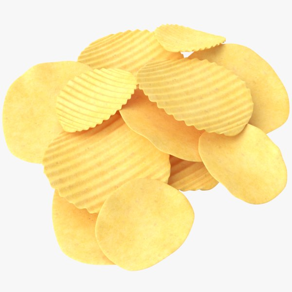 chips potato 3D