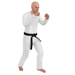 rigged karate 1 model