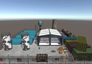 industry props 3D model
