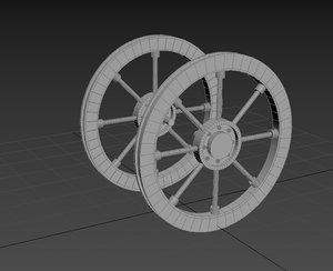 3D wood wheel