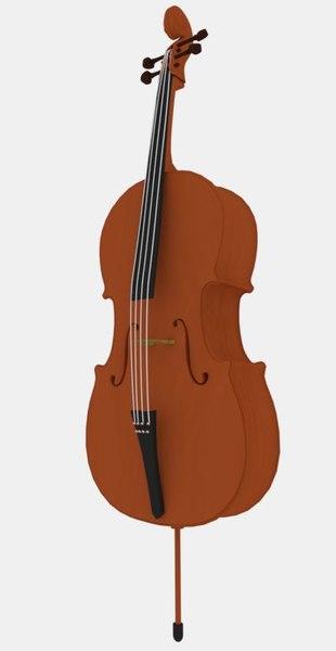 3D cello instrument