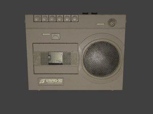 cassette player 302 3D