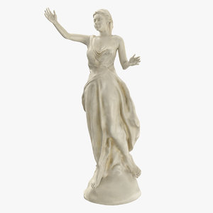 3ds max marble statue woman