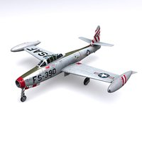 republic f-84 thunderjet f-84g 3D model