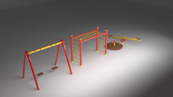 3D furniture parks model