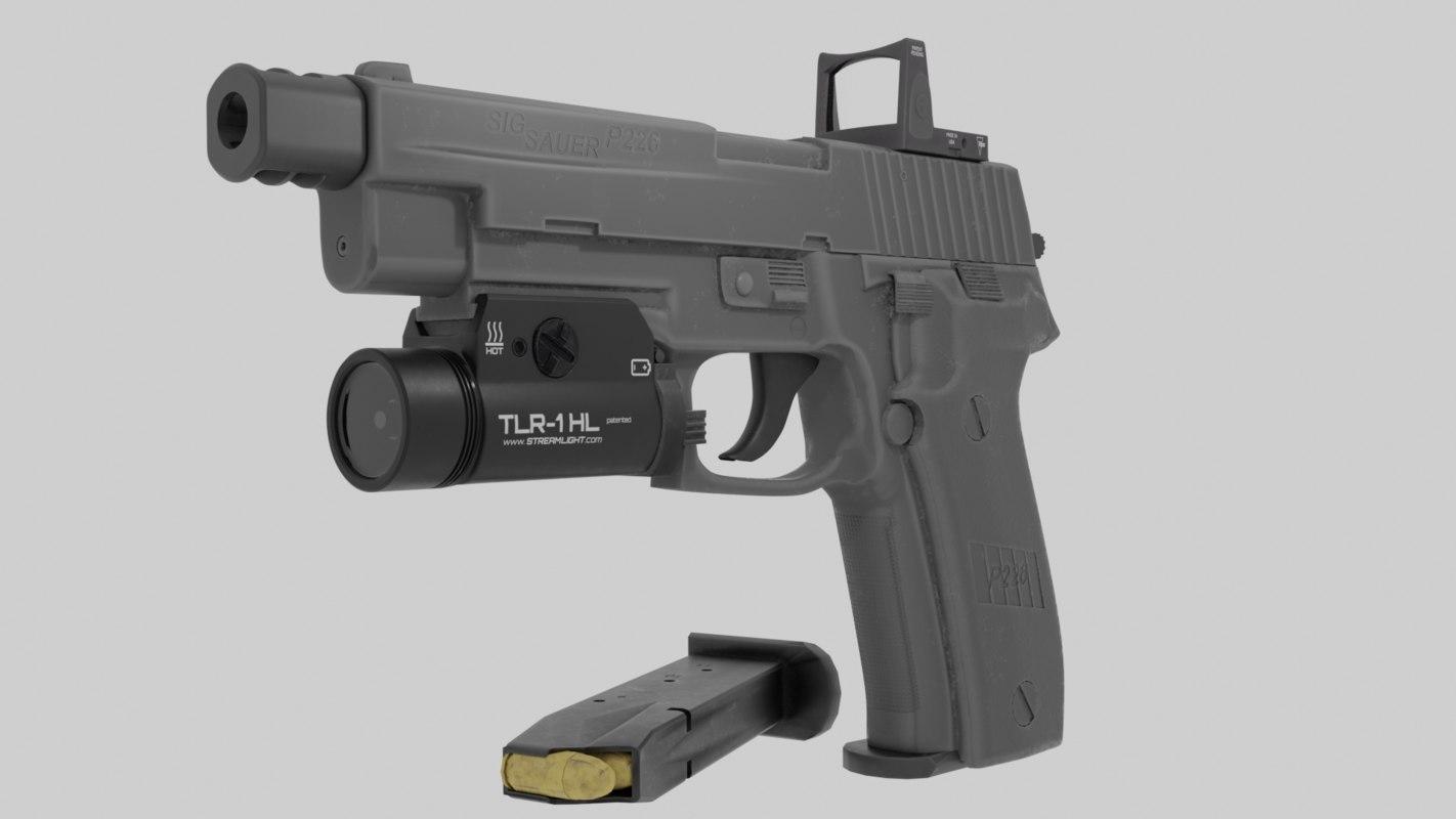 3D model pistol sig sauer p226