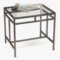 3D coffee table metal glass model
