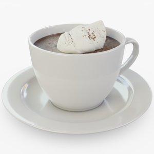 3D cup hot model