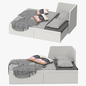 ikea fllekke bed 3D model