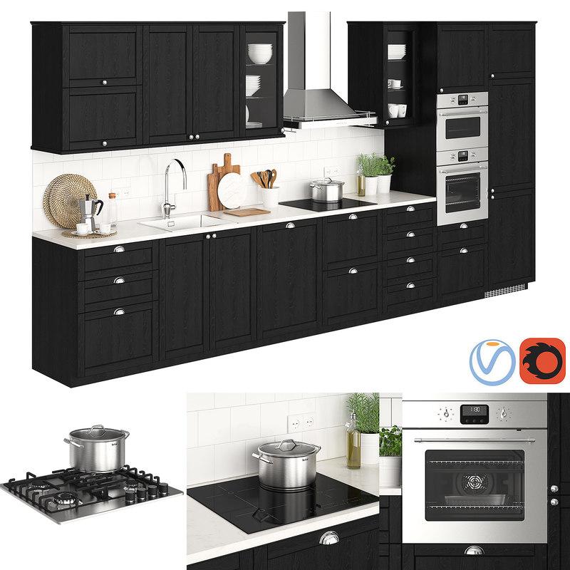 Ikea Kitchen Design Software Free: 3D Model Ikea Metod Lerhyttan