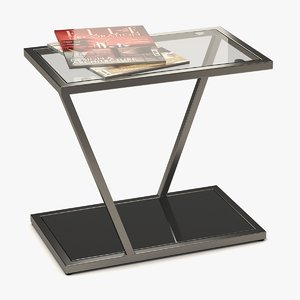 coffee table metal glass 3D model