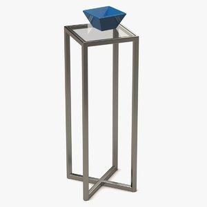 coffee table metal glass model