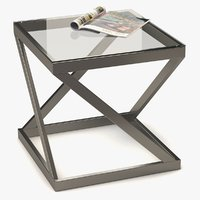 coffee table metal glass model